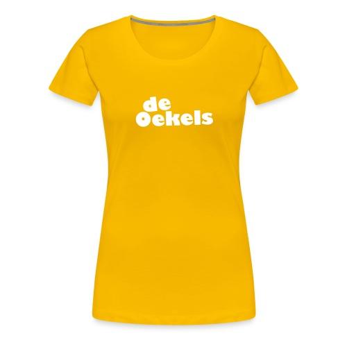 DeOekels t-shirt Logo wit - Vrouwen Premium T-shirt