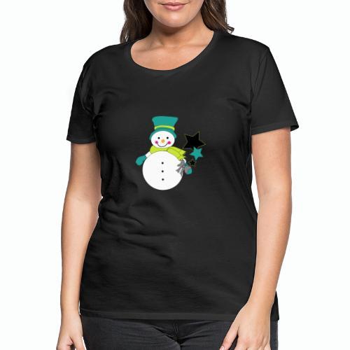 Snowtime-Green - Frauen Premium T-Shirt