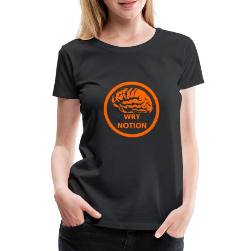 WRYNOTION Brain Logo - Frauen Premium T-Shirt