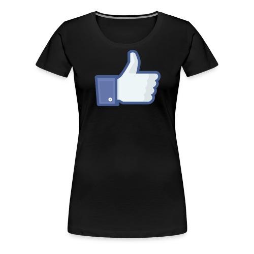 Facebook like thumb png - Dame premium T-shirt