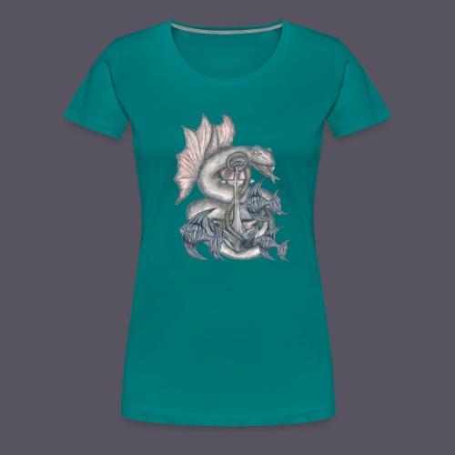farbiges Meeresungeheuer - Frauen Premium T-Shirt