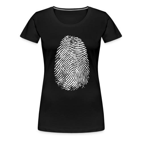 FINGERPRINT WHITE - Dame premium T-shirt