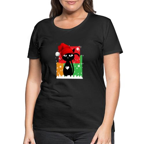 Christmas cat - Frauen Premium T-Shirt