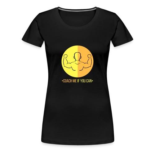 Muscle jaune orange - T-shirt Premium Femme