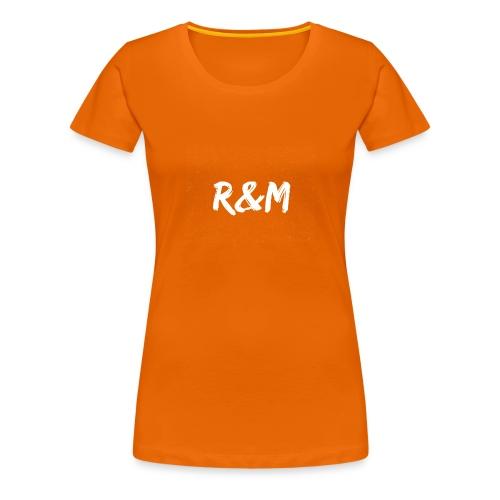R&M Large Logo tshirt black - Women's Premium T-Shirt