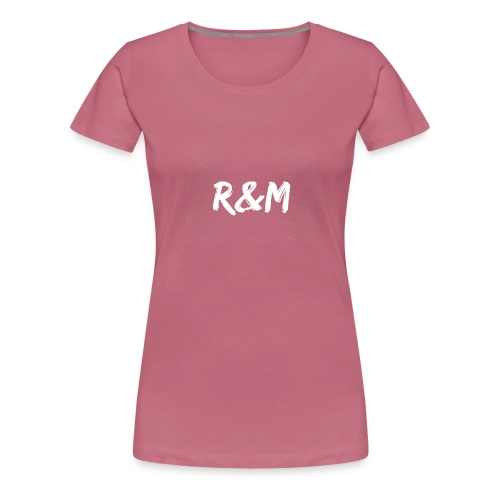 R&M Large Logo tshirt black - Women's Premium T-Shirt