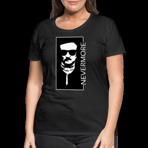 Dark Visions - Edgar Allan Poe Hipster Portrait 5 - Frauen Premium T-Shirt