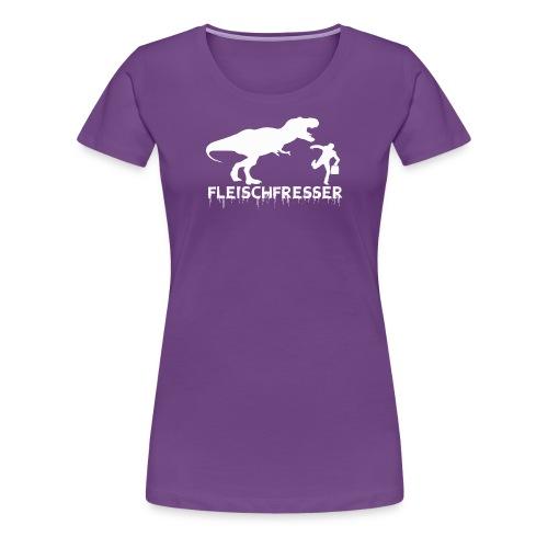 fleischfresser weiss - Frauen Premium T-Shirt