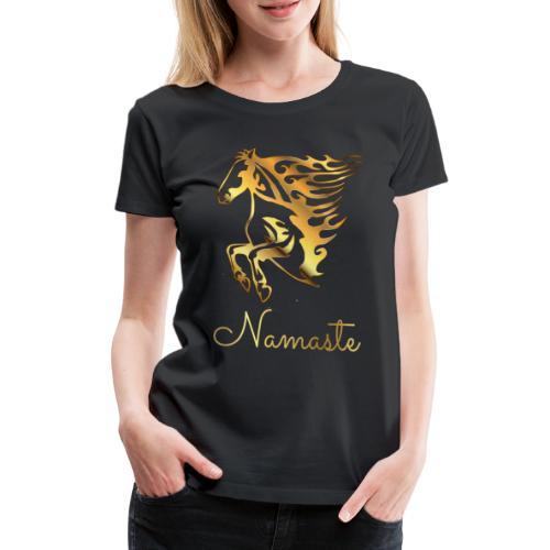Namaste Horse On Fire - Frauen Premium T-Shirt