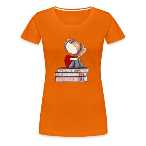 RealityDiesBookPrint png - Women's Premium T-Shirt