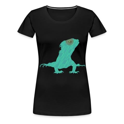 Türkis - Leguan - Frauen Premium T-Shirt