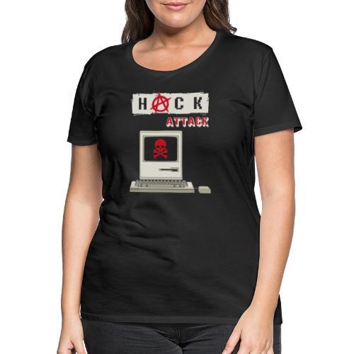 Hack Attack - Computer Hack - Computer Crime - Frauen Premium T-Shirt