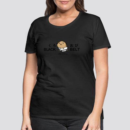Zwarte gordel hamster - Vrouwen Premium T-shirt