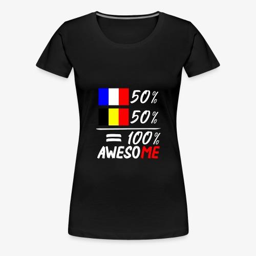 50% Frankreich 50% Belgien - Frauen Premium T-Shirt