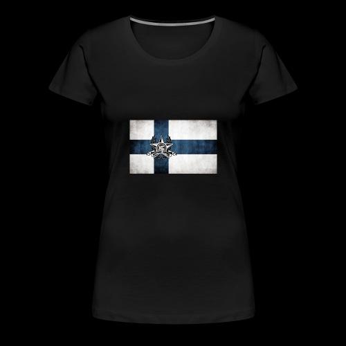 Suomen lippu - Naisten premium t-paita