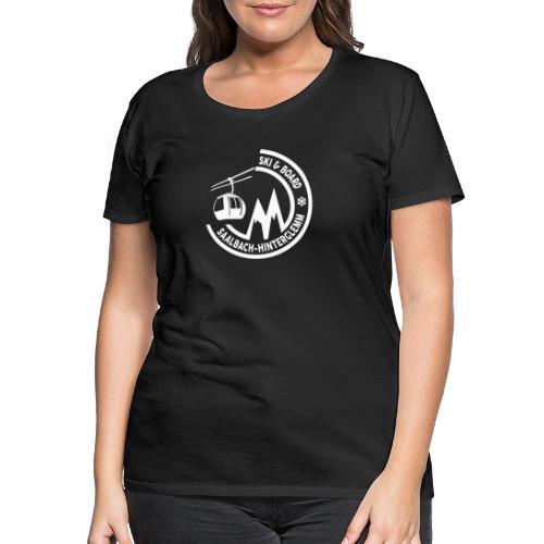 Ski & Board embleem Saalbach Hinterglemm - Vrouwen Premium T-shirt