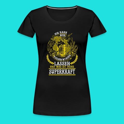 Bier Superkraft - Frauen Premium T-Shirt