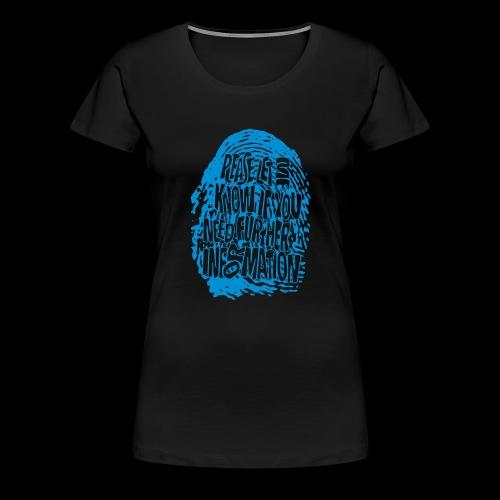 DNA, odcisków palców (niebieski) - Koszulka damska Premium