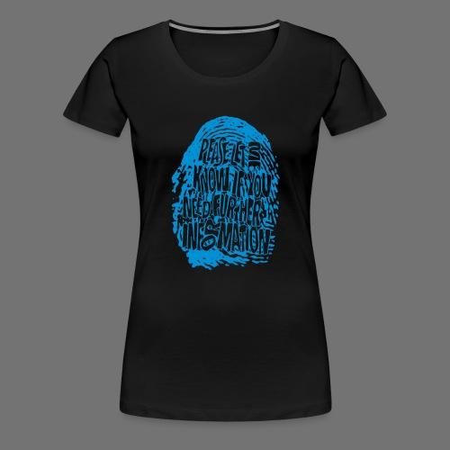 Sormenjälki DNA (sininen) - Naisten premium t-paita