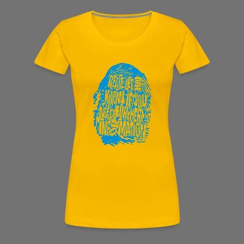 Fingerprint DNA (blue) - Frauen Premium T-Shirt