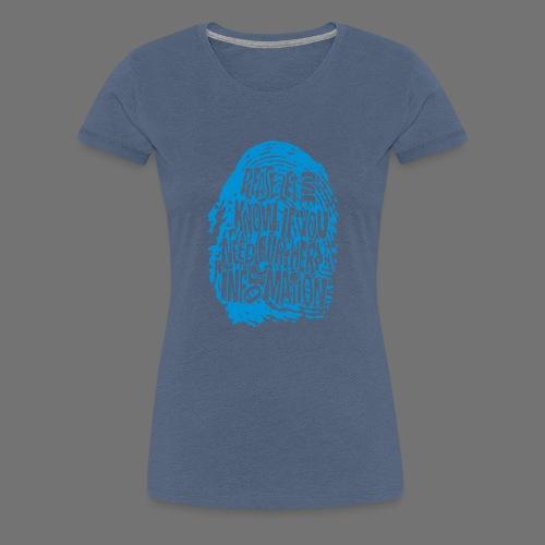 Fingerprint DNA (blue) - Women's Premium T-Shirt