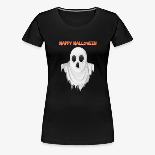 HAPPY HALLOWEEN GHOST DESIGN - Women's Premium T-Shirt