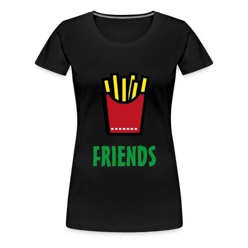 Best Friends Burger & Fries Fritten Pommes Frittes - Frauen Premium T-Shirt