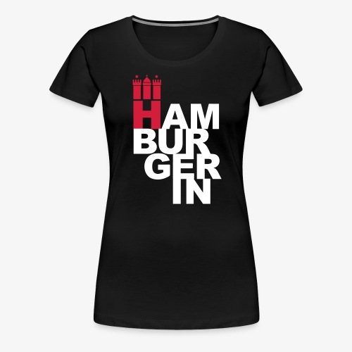 HAMBURGERIN 2c Hamburg Stadt Wappen - Frauen Premium T-Shirt