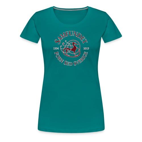 Jubileumslogga stor - Premium-T-shirt dam