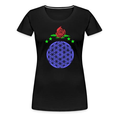 flor de vida - Camiseta premium mujer