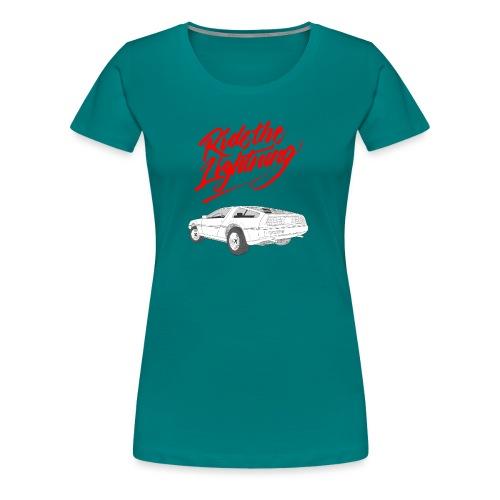 Delorean – Ride The Lightning - Frauen Premium T-Shirt