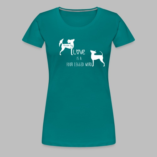 slogan 2 - Naisten premium t-paita