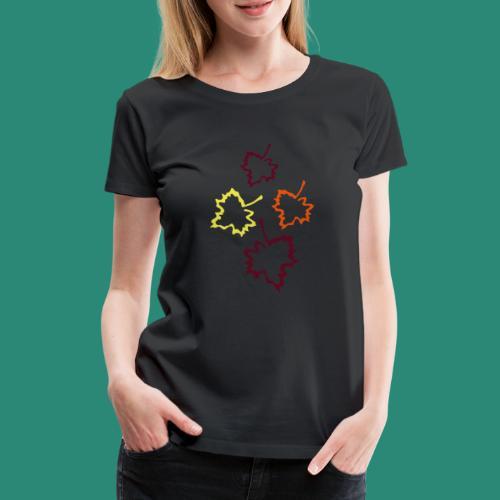 Herbstblätter 2 - Frauen Premium T-Shirt