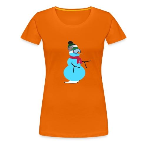 Snowboarding snowman - Naisten premium t-paita