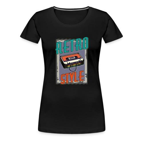 MUSIC RETRO STYLE 01 - Maglietta Premium da donna