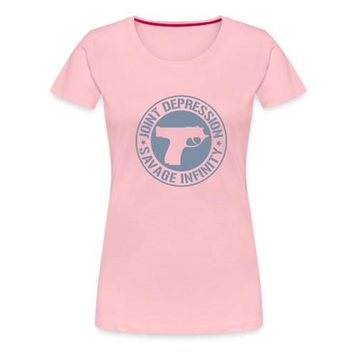 jd logo 11 2008 - Naisten premium t-paita