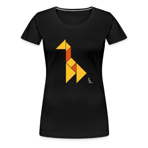 En mode tangram - Giraffe - T-shirt Premium Femme