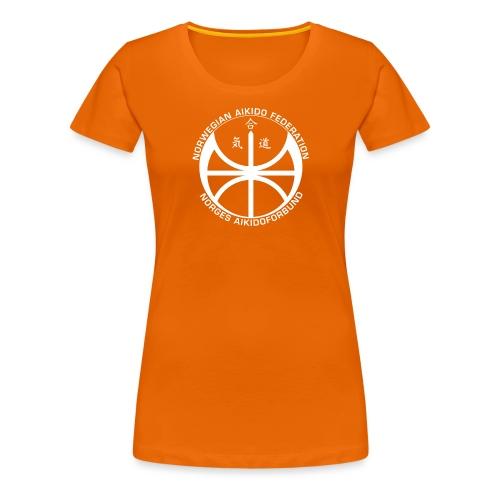 Hvit NAF logo - Premium T-skjorte for kvinner
