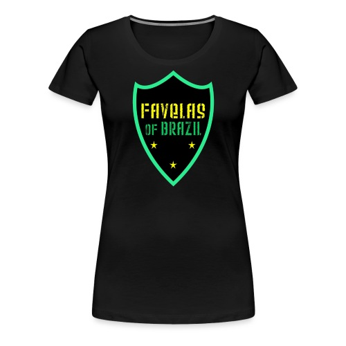 FAVELAS OF BRAZIL NOIR VERT DESIGN - T-shirt Premium Femme