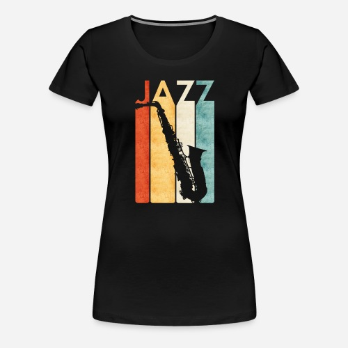 Jazz Saxophon Retro - Frauen Premium T-Shirt