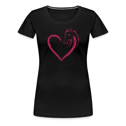 Vorschau: Pferde Herz - Frauen Premium T-Shirt