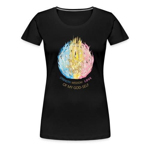 Blume des Lebens & Dreifältige Flamme - Frauen Premium T-Shirt