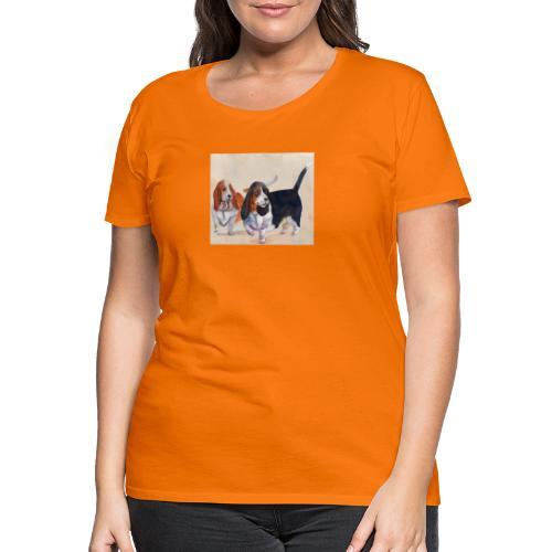 Basset hound_double-trot - Dame premium T-shirt