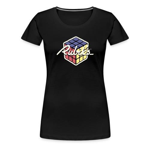 Rubik's Cube Retro Style - Women's Premium T-Shirt