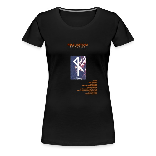 Read Caption - Frauen Premium T-Shirt