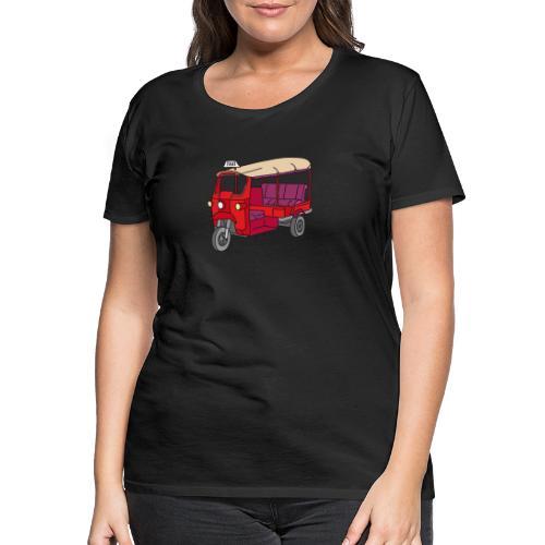 Rote Autorikscha, Tuk-tuk - Frauen Premium T-Shirt