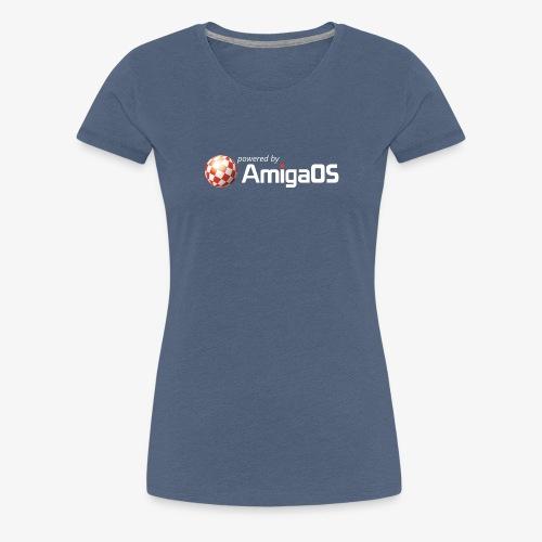 PoweredByAmigaOS white - Women's Premium T-Shirt