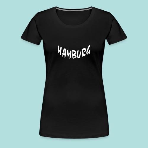 Hamburg weiß bogen unten - Frauen Premium T-Shirt