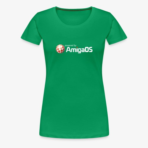 PoweredByAmigaOS white - Women's Premium T-Shirt