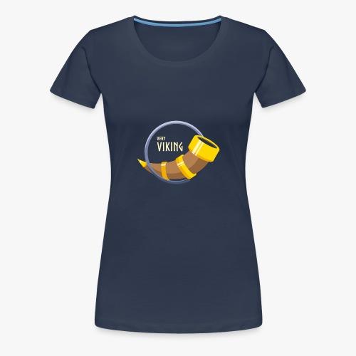Very Viking Horn - Dame premium T-shirt